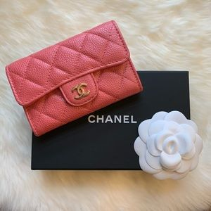 Chanel quilted Flap card holder